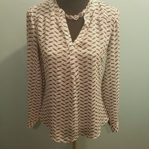 CANDIES black and white long sleeve shirt sz small